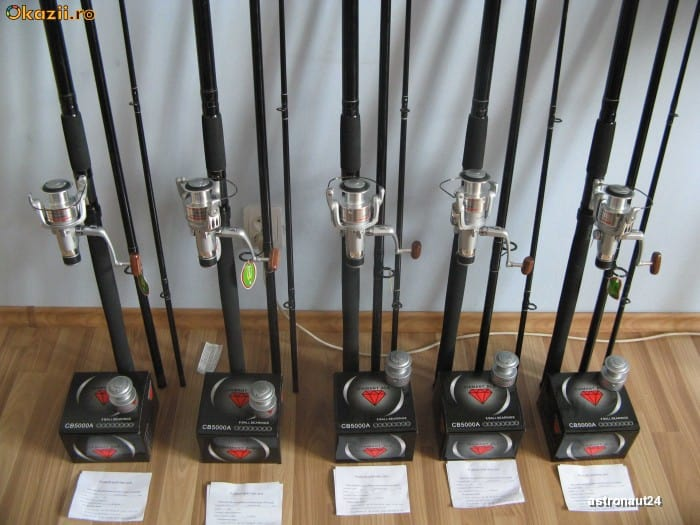 Set 5 Lansete Complete + Rod Pod Full Echipat Pret Promo