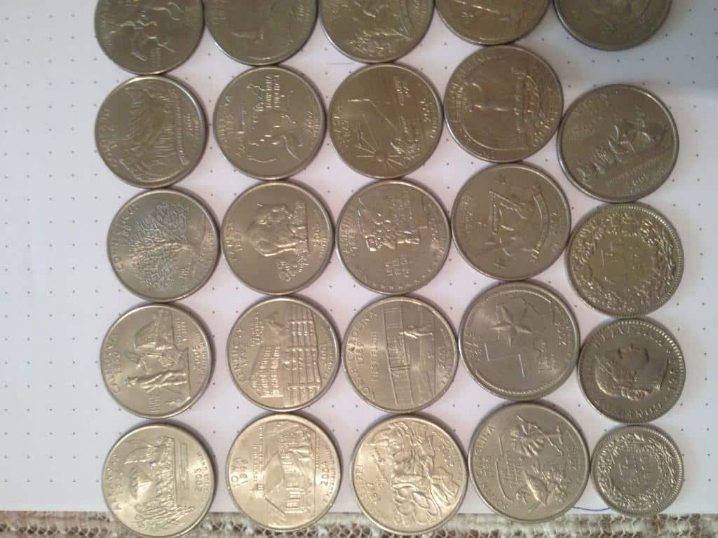 Vand monede americane 37 buc Quarter Dollar