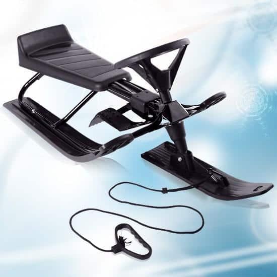 SANIE neagra cu volan SKI BOB XQ MAX NOUA pentru copii pana la 75 kg