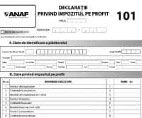 Declaratie 2015 - Impozit pe profit - Formular pentru impozitul pe 2014