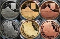 Vand colectie completa de monede (BNR) 2007-2010  Aur, Argint, Tombac