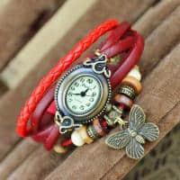Ceas de dama retro vintage cu pandantiv fluture