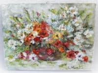 vand pictura ulei pe panza;Flori 1;MacedonLuiza