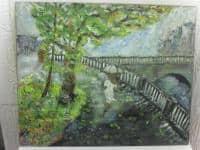 vand pictura ulei pe panza;Prin ploaie 1;MacedonLuiza