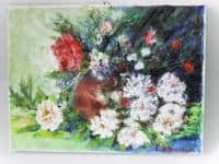 vand pictura ulei pe panza;Flori 4;MacedonLuiza