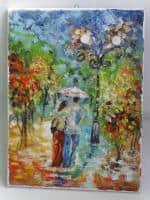 vand pictura ulei pe panza;In ploaie 2;MacedonLuiza