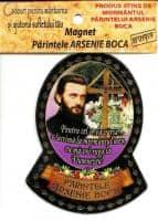 Magnet Folio Aur cu Părintele Arsenie Boca - cu text