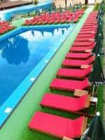Saltele sezlong, perne mobilier terase