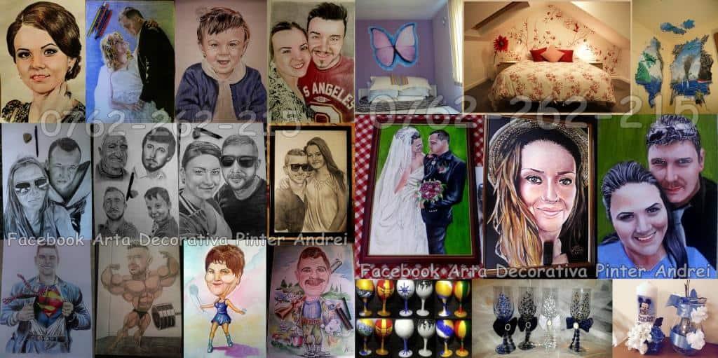 Picturi pe pereti si portrete