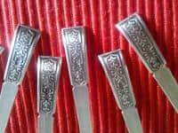 Lingurite mici din argint, model deosebit