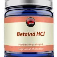 Betaina Hcl, 180 capsule, 600 mg/capsula.