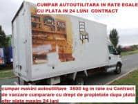 CUMPAR AUTOUTILITARA  CU PLATA IN RATE MAXIM 6000 EURO
