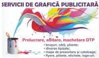 Servicii de grafica publicitara, editare text si foto