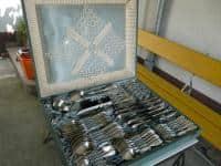 Set tacamuri alpaca argintata marca Wellner 48