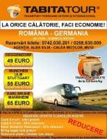Cu Tabita Tour la orice calatorie, FACI ECONOMIE!  Transport persoane si colete Romania - Germania