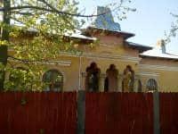 Vand casa din caramida cu teren 4555mp,pomi fructiferi,asfalt,fantana,apa si canalizare
