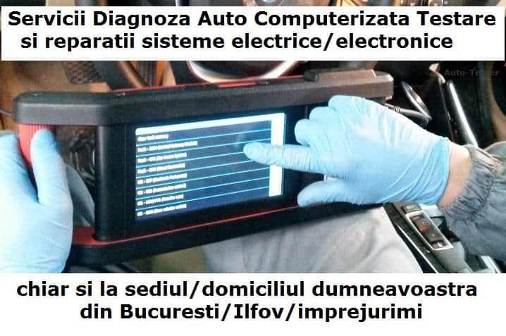 Diagnoza Auto Testare cu Tester Service Electrica Auto la Domiciliu