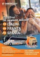 Oferta transport persoane Romania - Italia - Franta - Spania