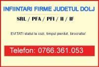 Infiintare Firma (SRL, PFA, II) Craiova