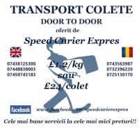 Transport saptamanal de colete in regim door to door(din usa in usa).
