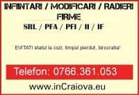 INFIINTARI / MODIFICARI / RADIERI FIRME