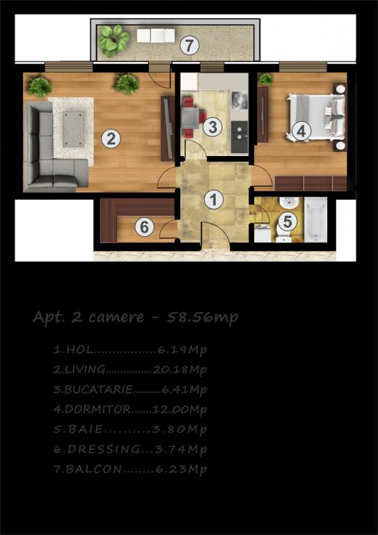 Apartament 2 camere Rahova Muntii Carpati