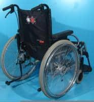 Scaun cu rotile din aluminiu care suporta 150 kg/48 cm sezut