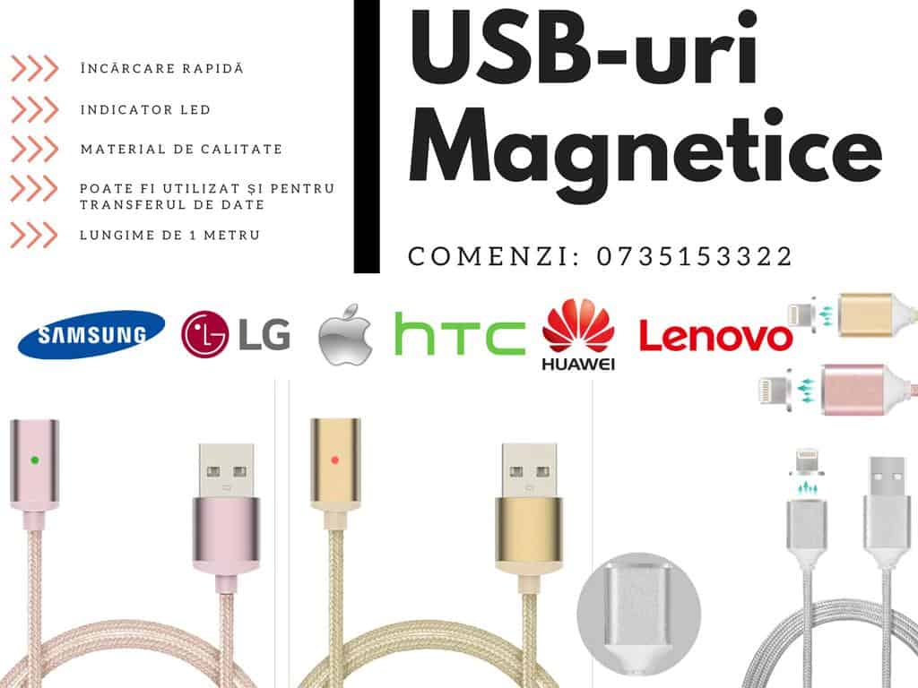 Încărcător Iphone, Samsung, Android cu cablu USB magnetic și indicator