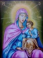 Icoana Maica Domnului cu Iisus.