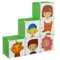[neu.haus]® Dulap copii - depozitare - verde - DIY sistem asamblar