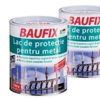 Vopsea metal Baufix-Negru lucios