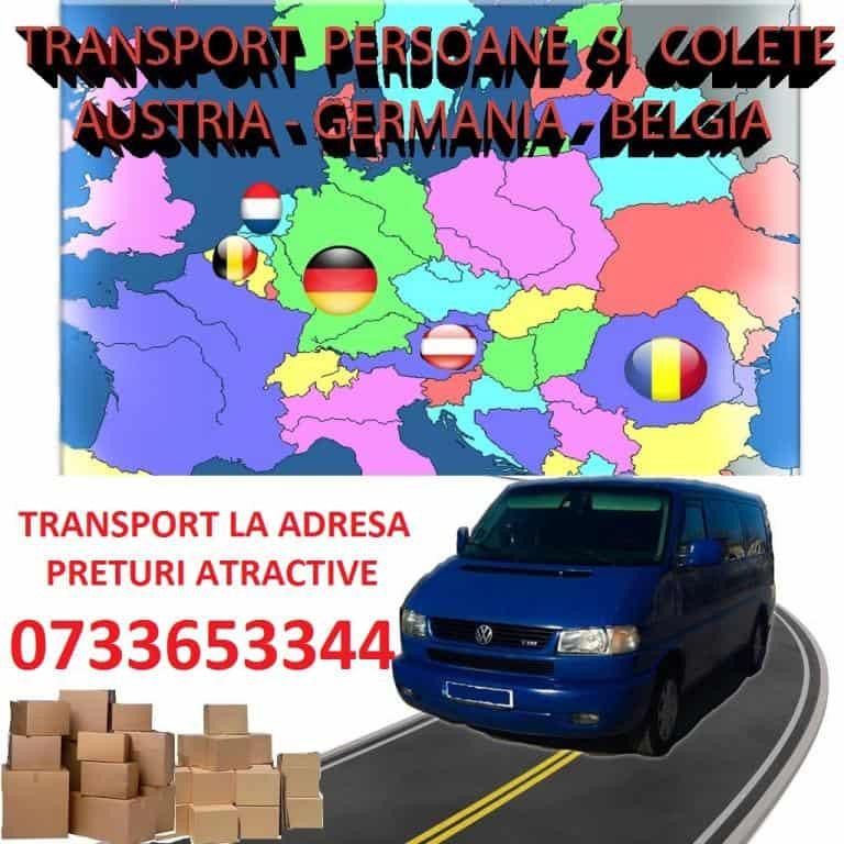 Transport Persoane si Colete Austria, Germania, Belgia, Olanda