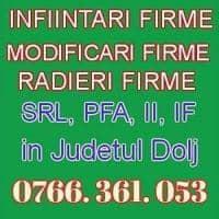Infiintari / Modificari Firme Craiova / Dolj