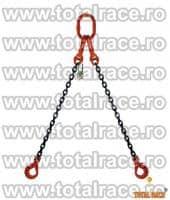 Sistem de ridicare din lant cu 2 brate cu carlige