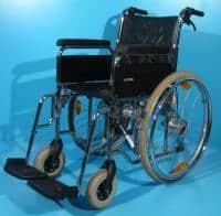 Fotoliu handicap rulant second hand dotat cu cauciuc plin