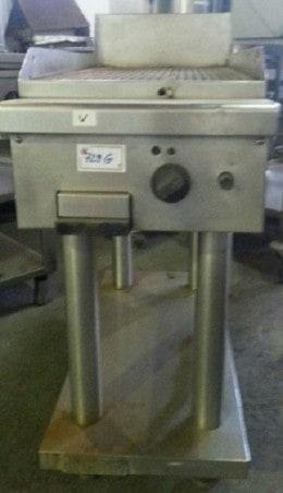 Gratar gaz placa striata pe suport, second