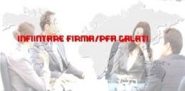 Infiintare firma/PFA Galati |infiintari firme Galati