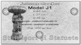 Jardiniera grup copii din beton model J1.