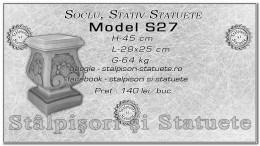 Soclu, stativ din beton model S27.