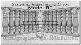 Stalpisori, balustri, din beton, model B2.