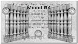 Stalpisori, balustri, din beton, model B4.