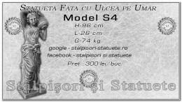 Statueta fata cu ulcea pe umar din beton model S4.