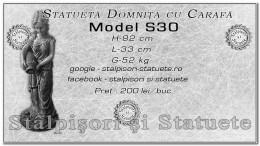 Statueta domnita cu cararfa din beton model S30.