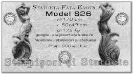 Statueta fata erotica din beton model S26.