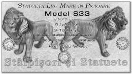 Statueta leu mare in picioare din beton model S33.