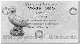 Statueta ratusca din beton model S25.