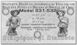 Statuete copilasi din beton model S31, S32.