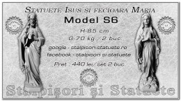 Statuete Isus si fecioara Maria model S6.