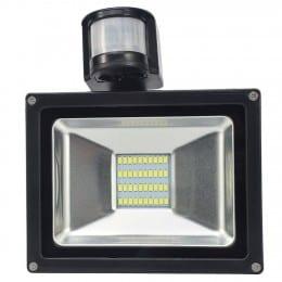 Proiector LED 20W cu Panou Solar Alb Rece