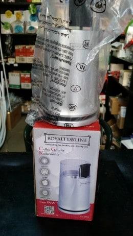 Macinator Royalty Line 150W pentru macinat cafea, zahar, sare, nuca, cereale